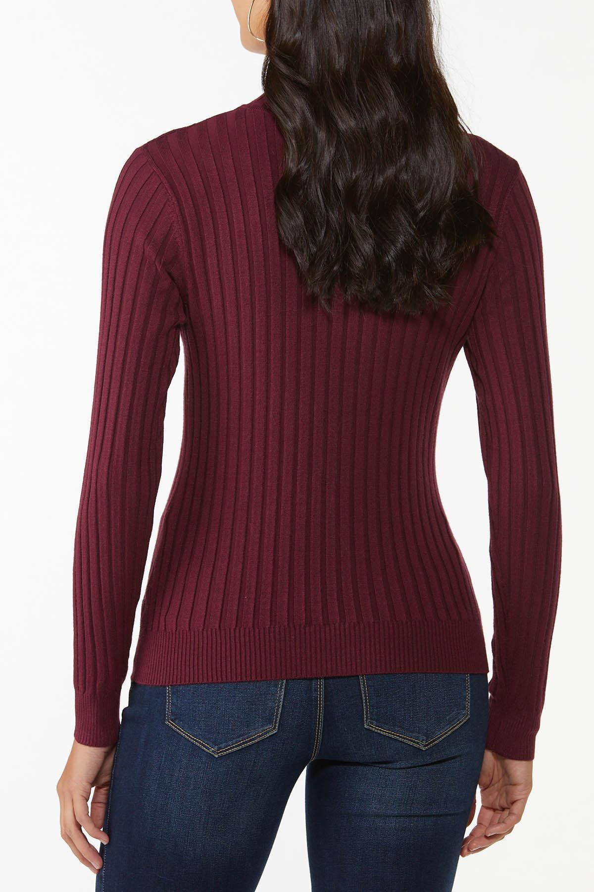 Ribbed Mock Neck Sweater (Item #44754055)