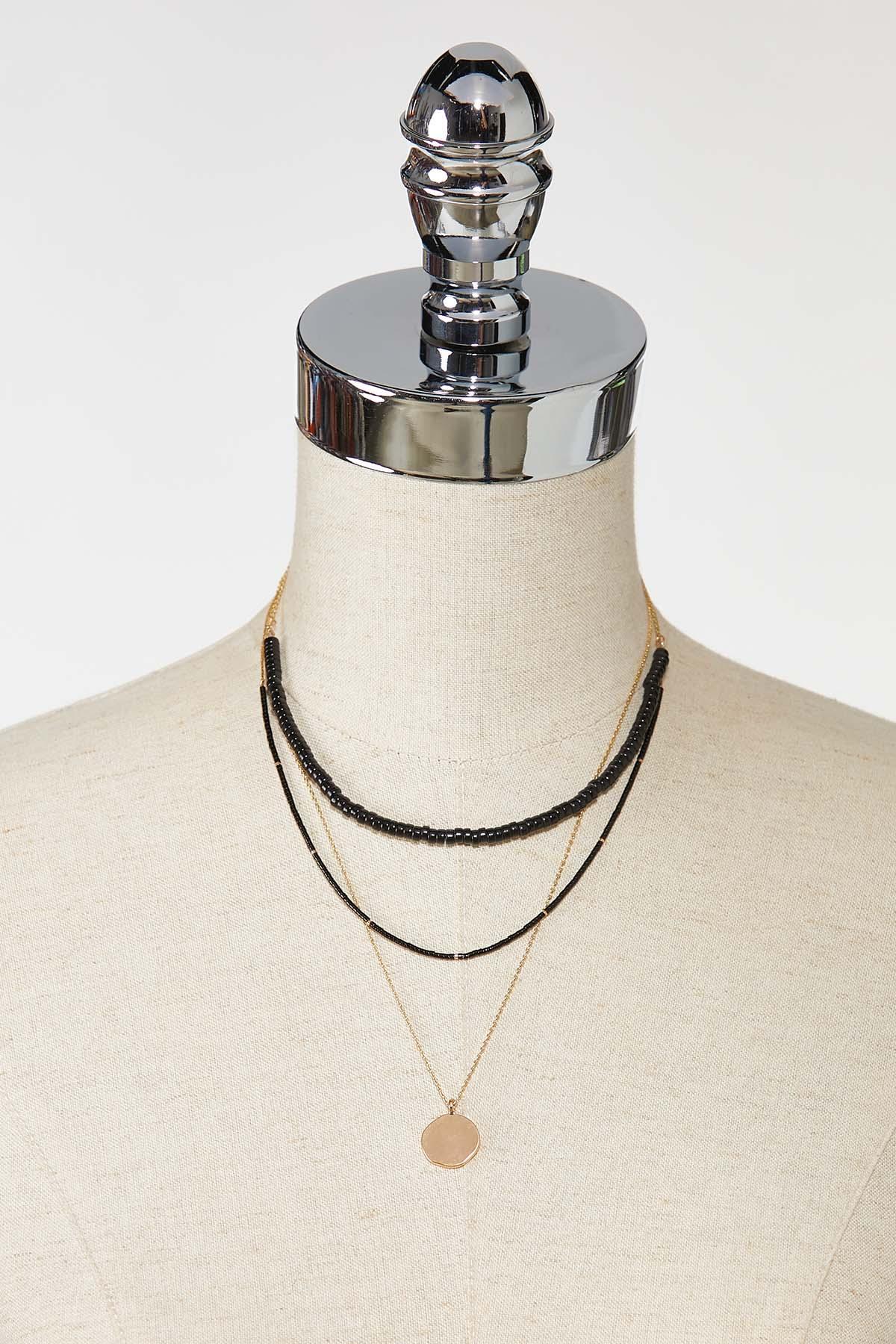 Layered Black Stone Necklace (Item #44756086)