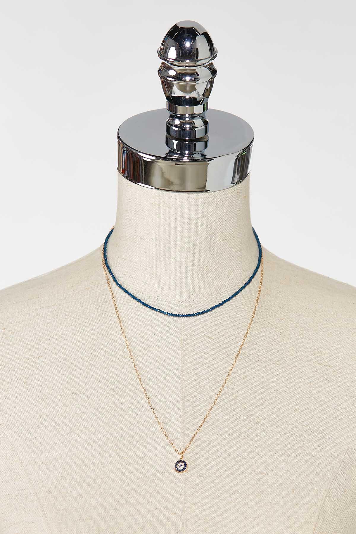 Navy Stone Pendant Necklace (Item #44756088)