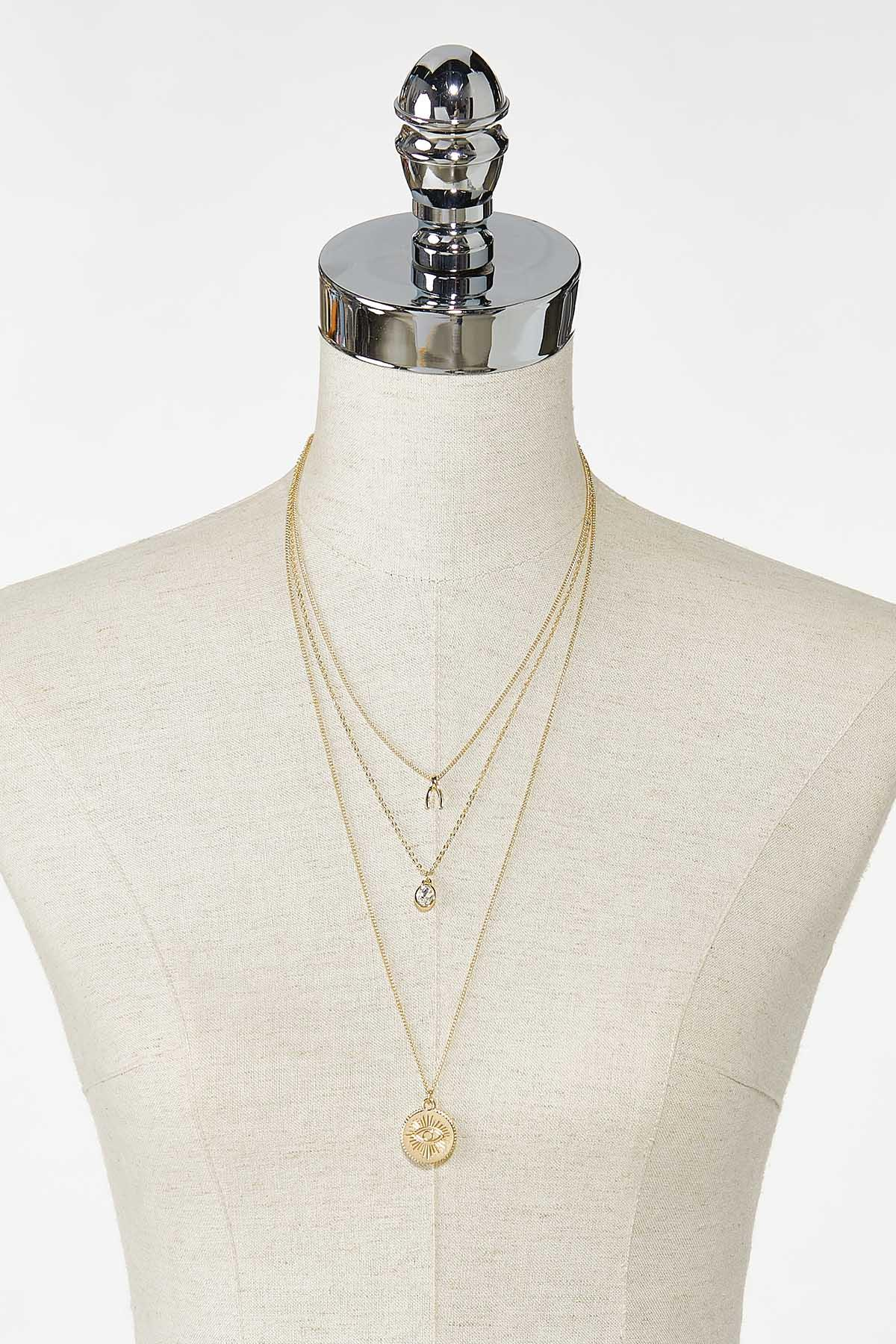 Delicate Layered Charm Necklace (Item #44758621)