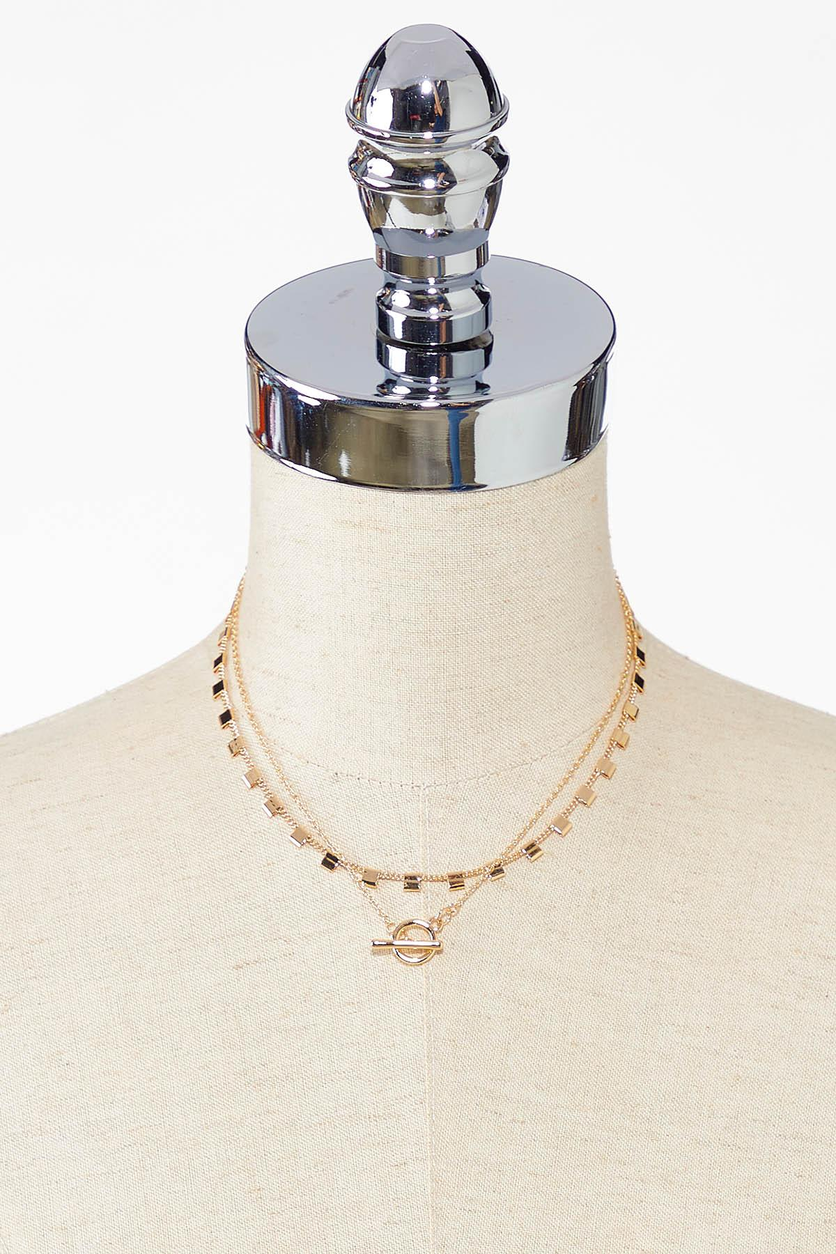 Delicate Toggle Layered Necklace (Item #44759232)