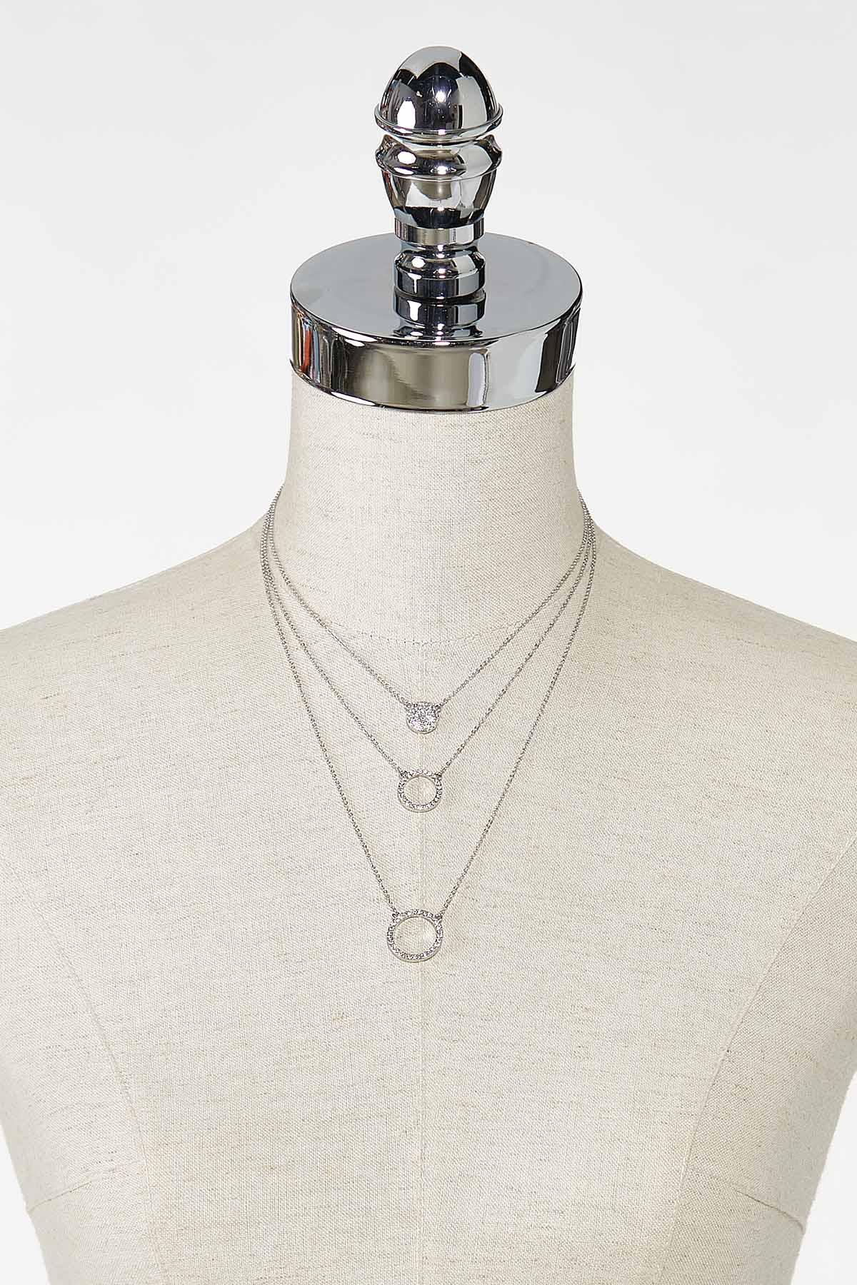 Layered Rhinestone Necklace (Item #44759287)