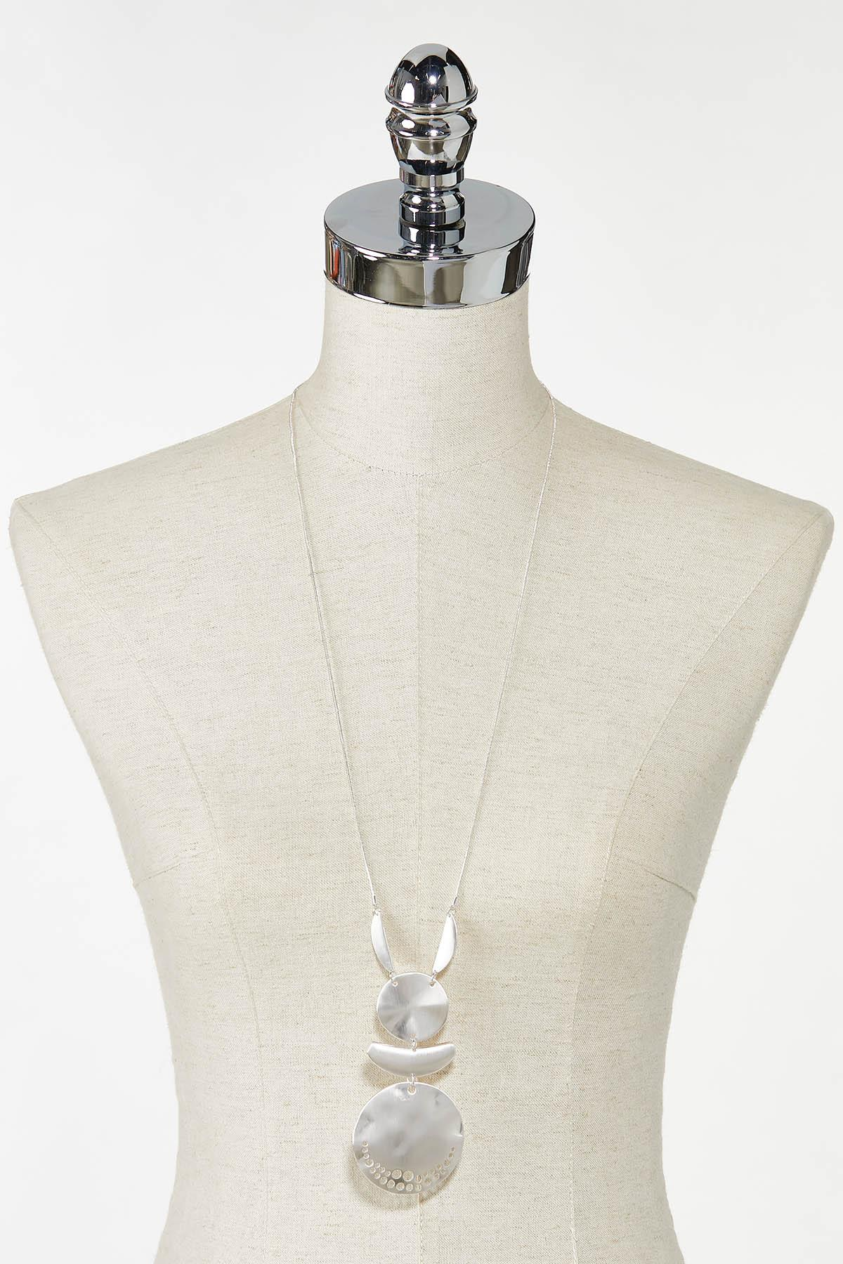 Tiered Silver Metal Necklace (Item #44759382)