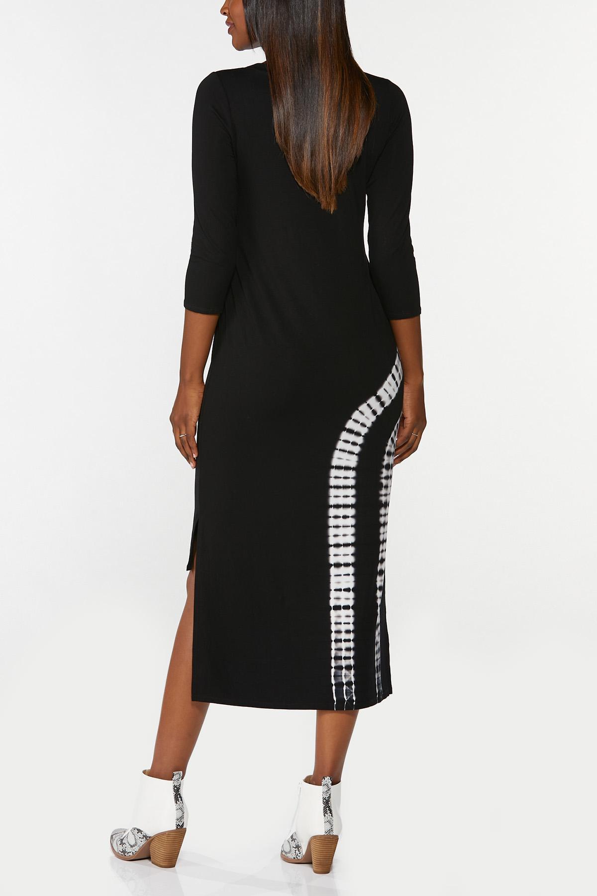 Plus Size Tie Dye Midi Dress (Item #44763500)