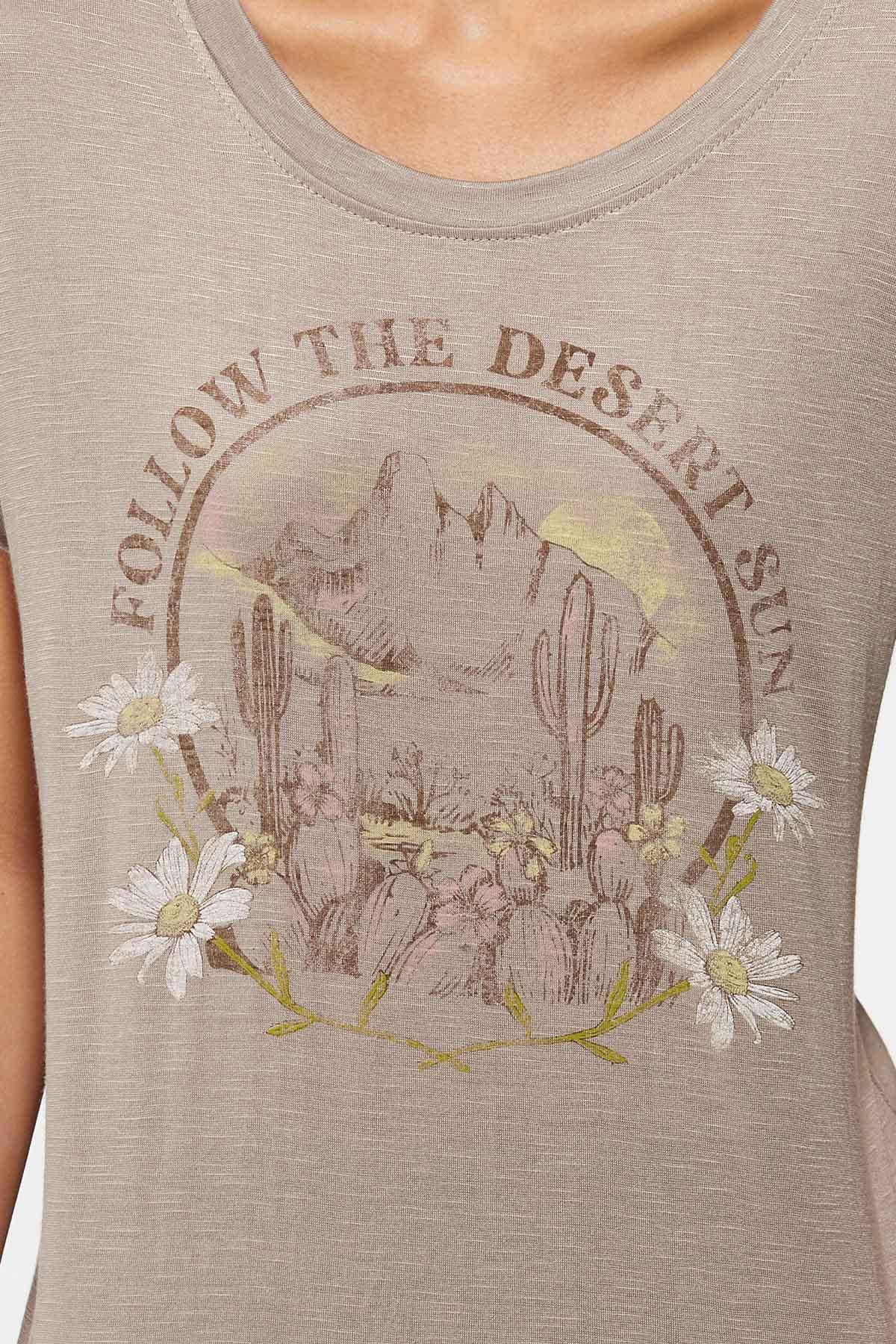 Plus Size Follow The Desert Sun Tee (Item #44765965)