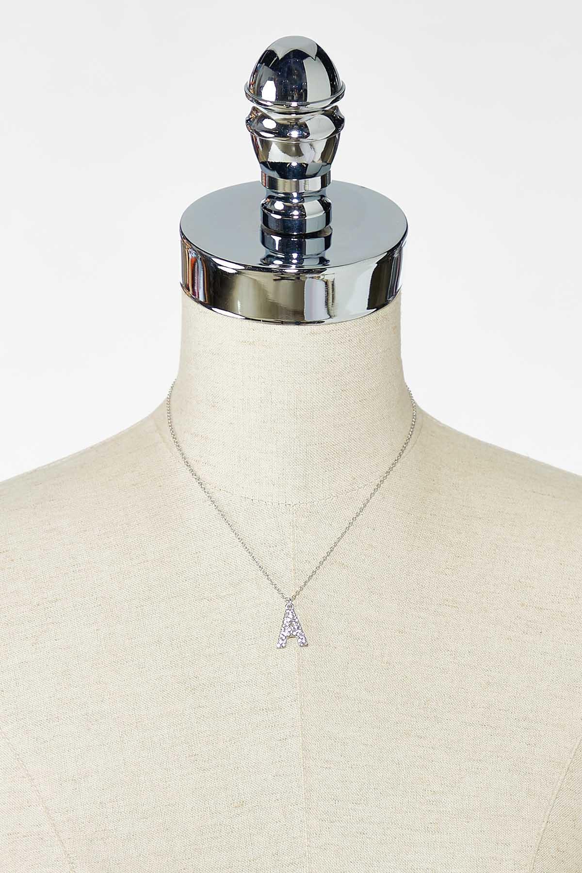 Rhinestone A Pendant Necklace (Item #44770175)