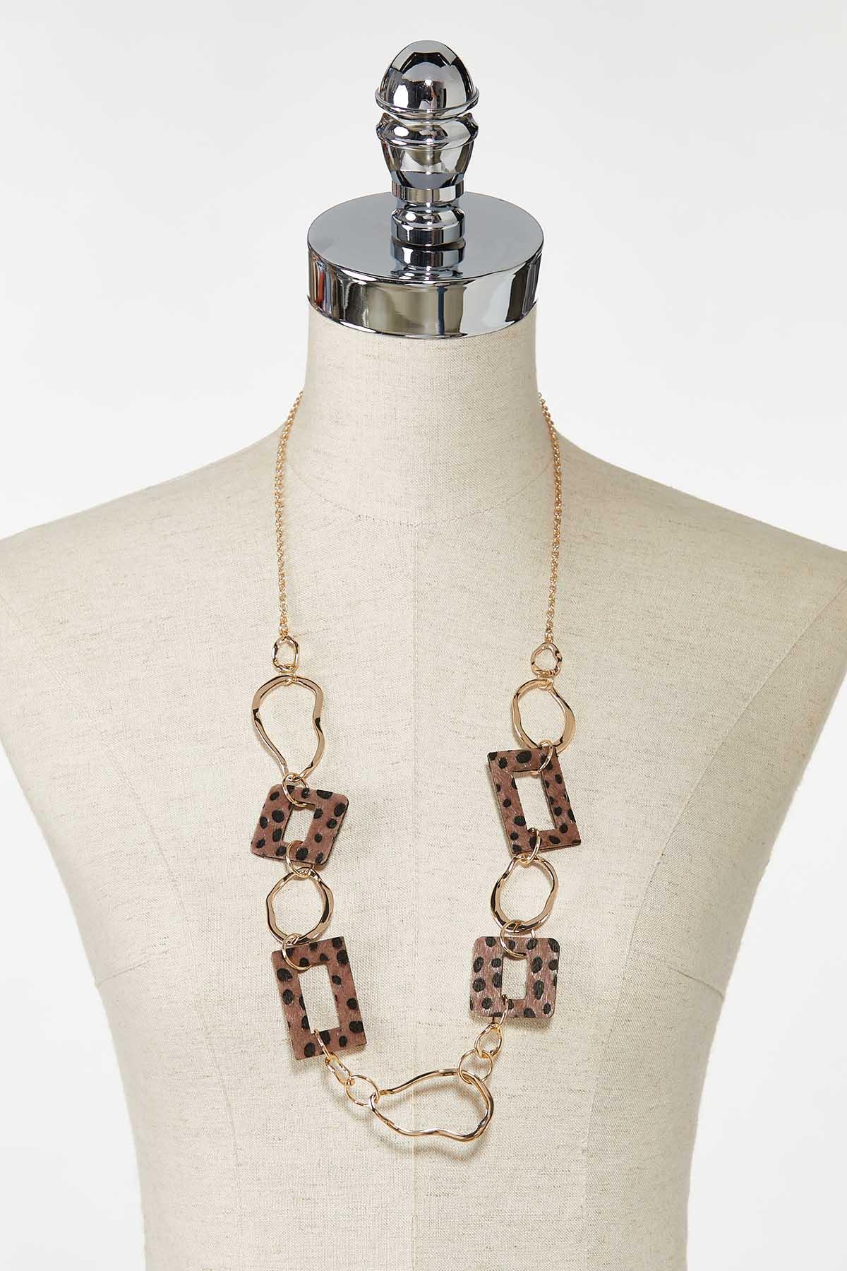 Textured Leopard Chain Necklace (Item #44770903)
