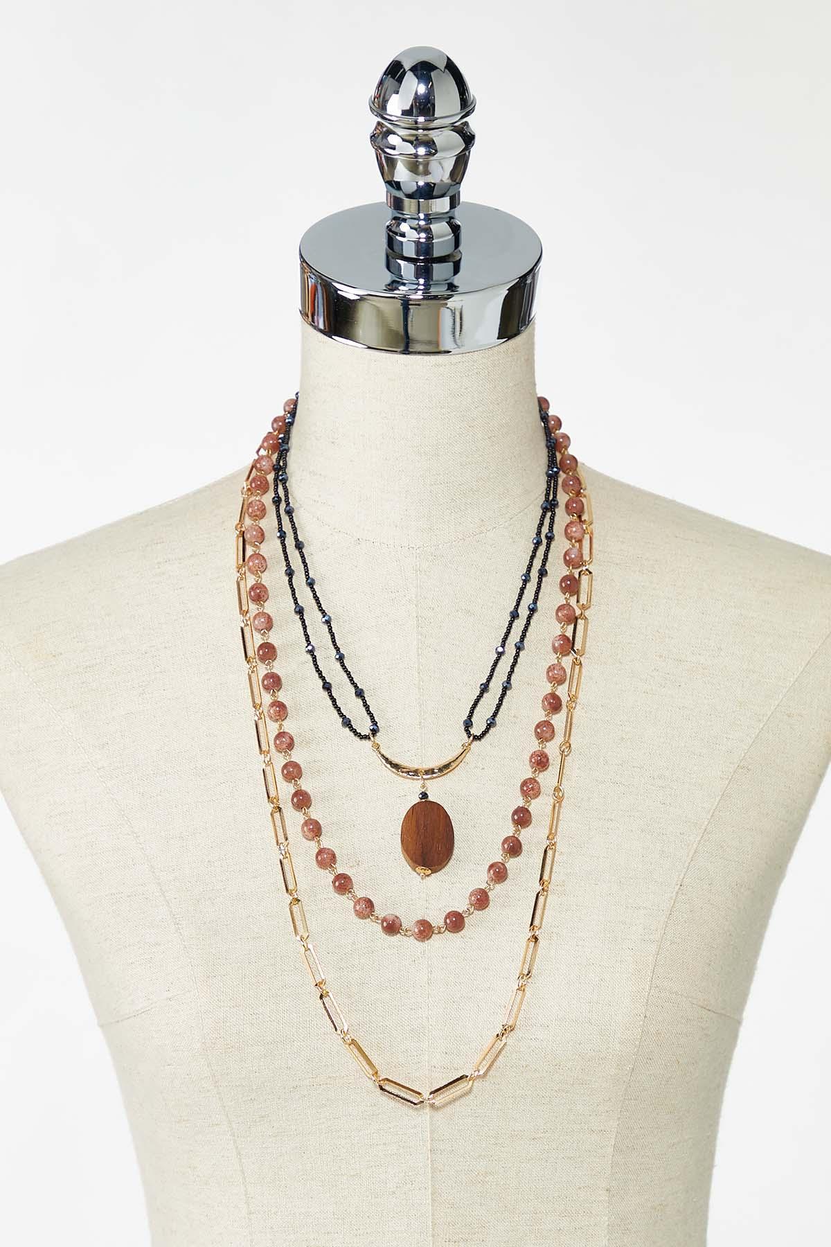 Layered Boho Bead Necklace (Item #44773430)