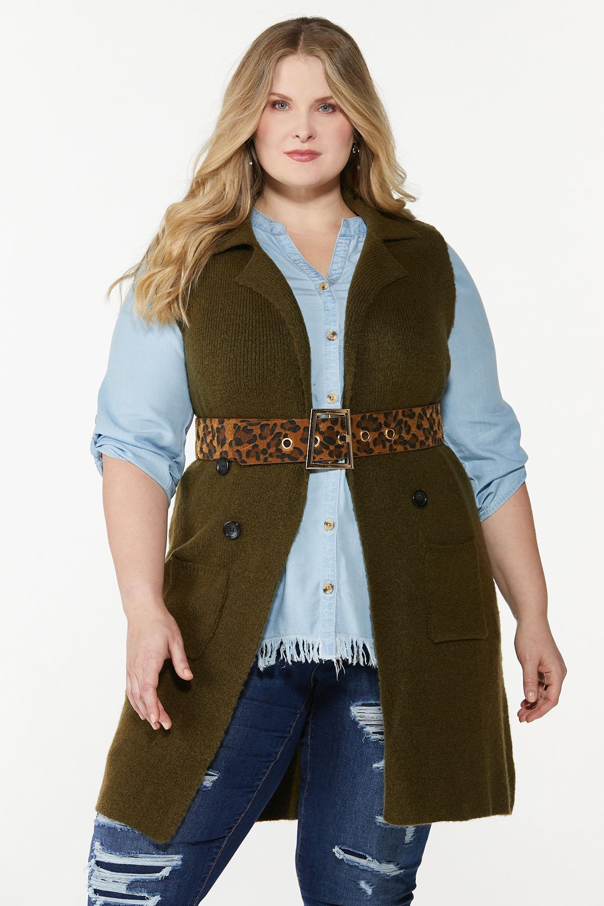 Plus Size Leopard Fur Belt (Item #44774870)