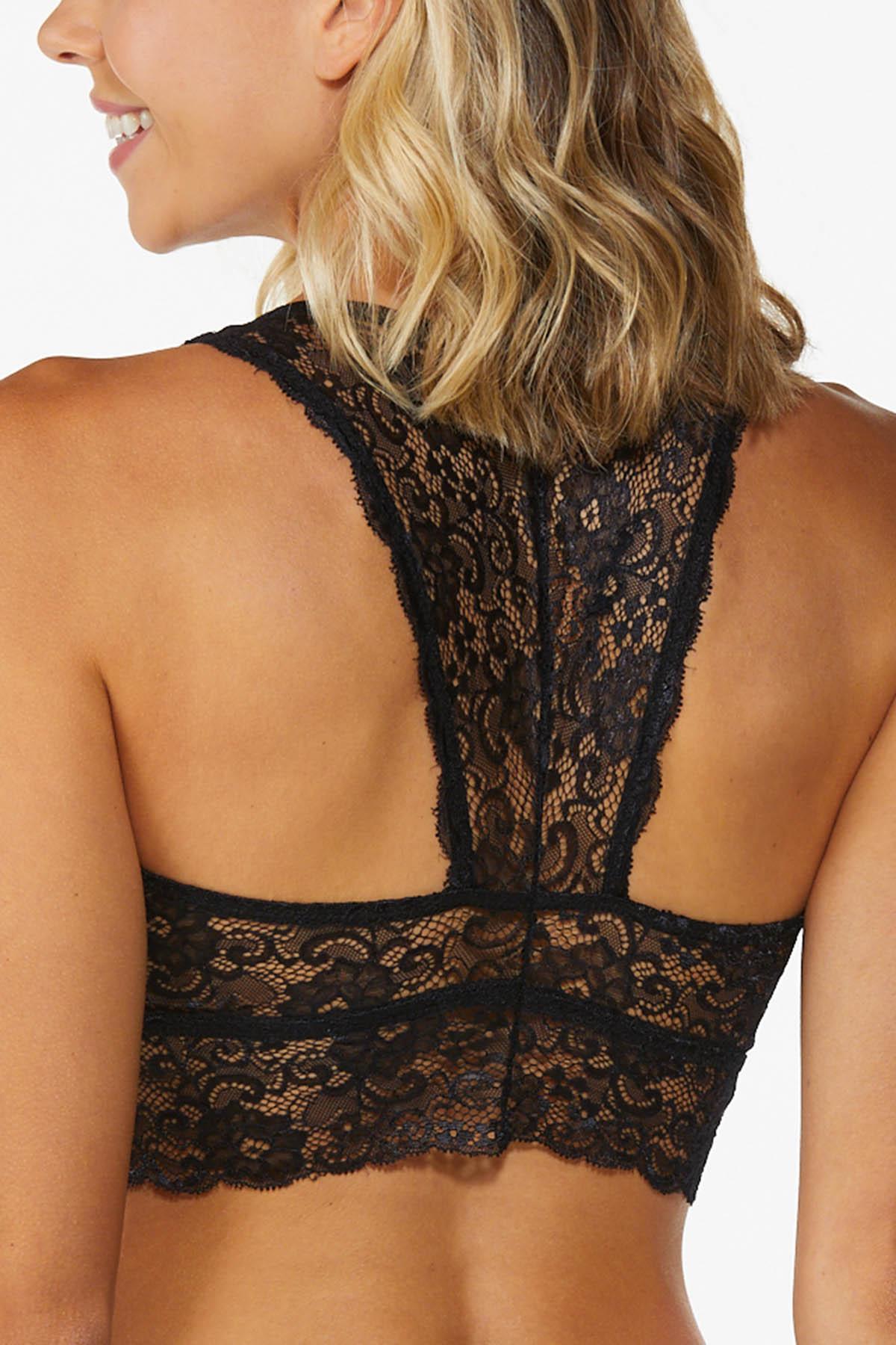 Plus Size Lace Racerback Bralette (Item #44776433)