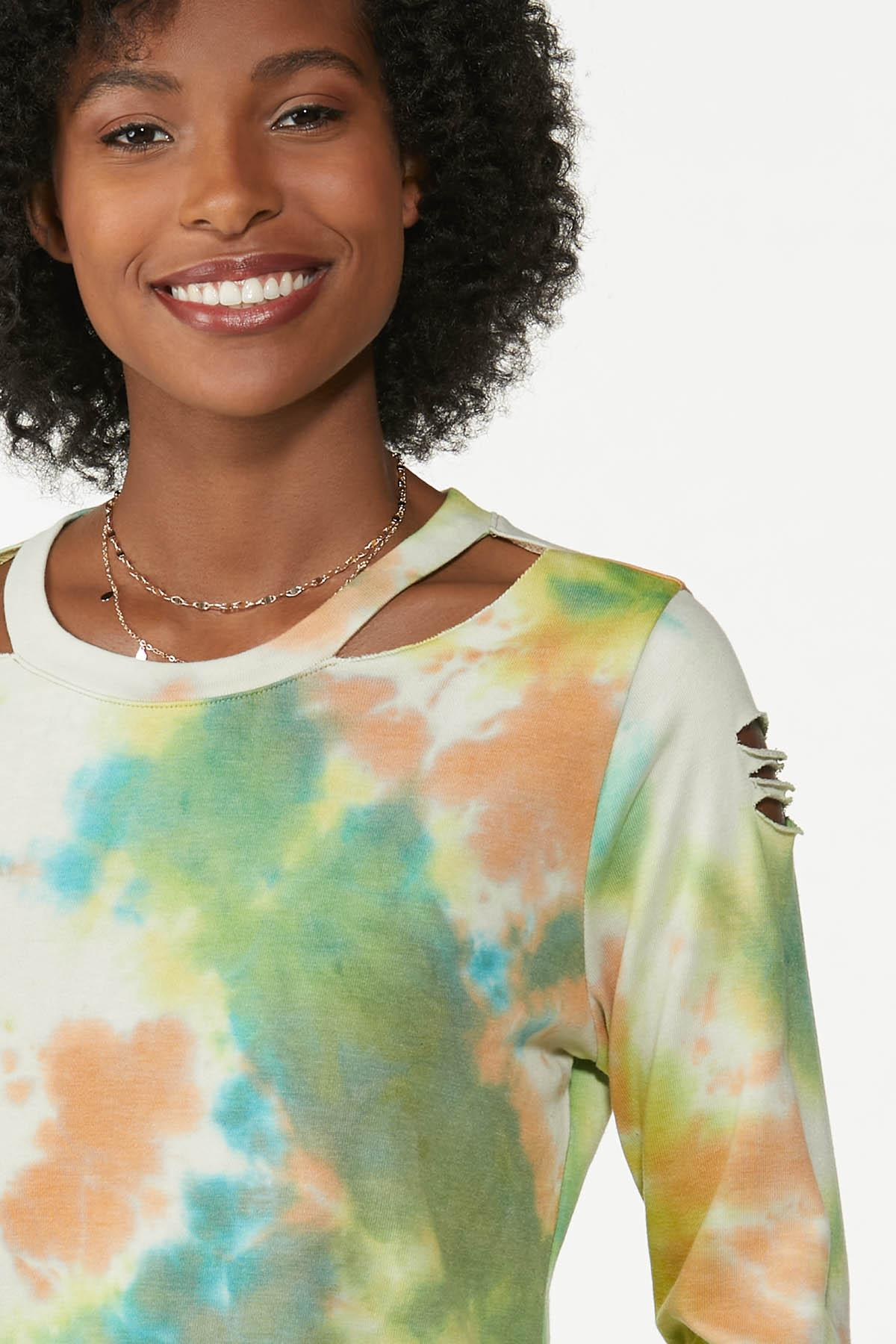 Cutout Tie Dye Sweatshirt (Item #44779118)