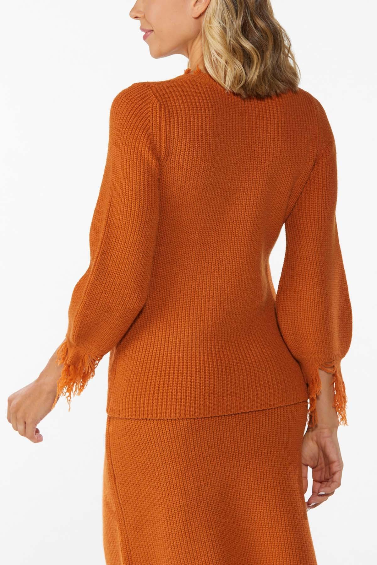 Distressed Orange Sweater (Item #44781568)