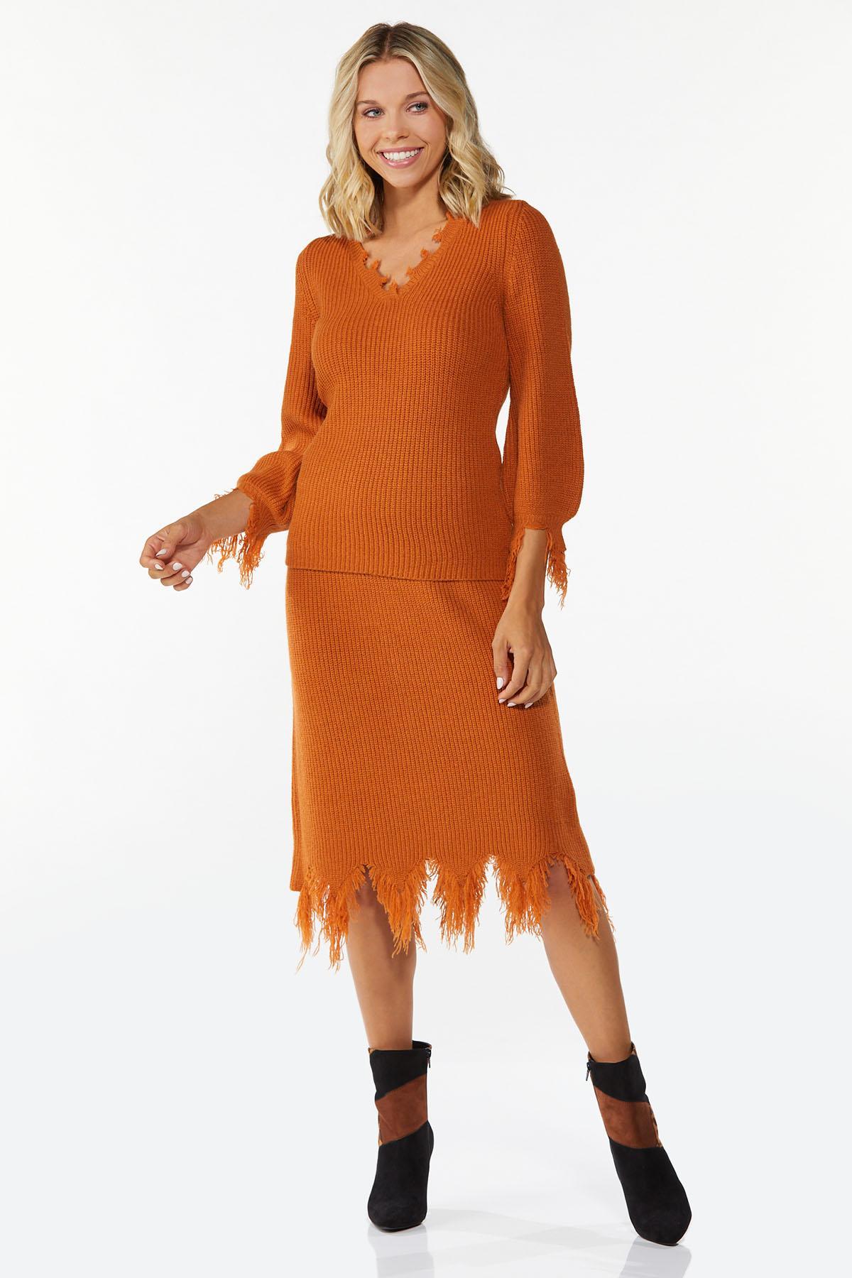 Distressed Sweater Skirt (Item #44781599)