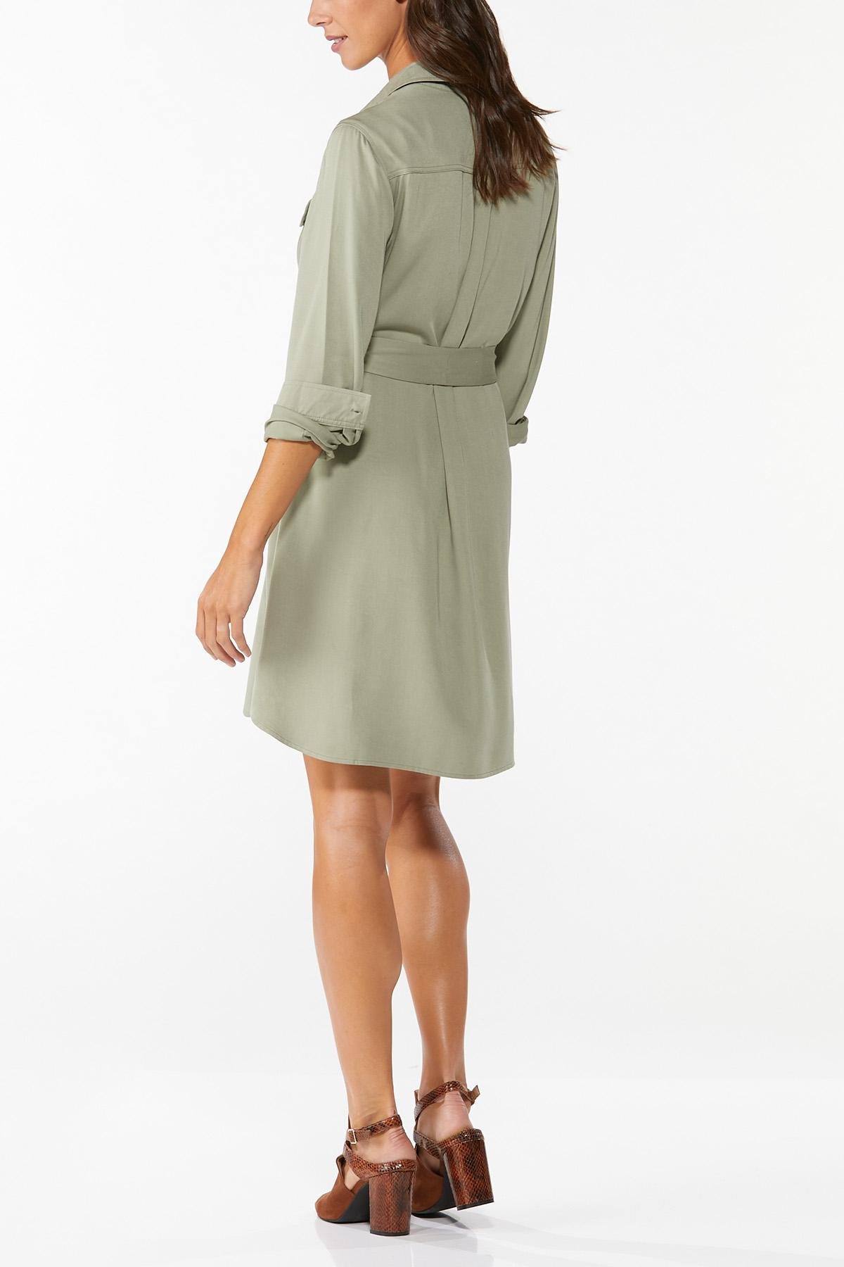 Tie Waist Shirt Dress (Item #44782429)