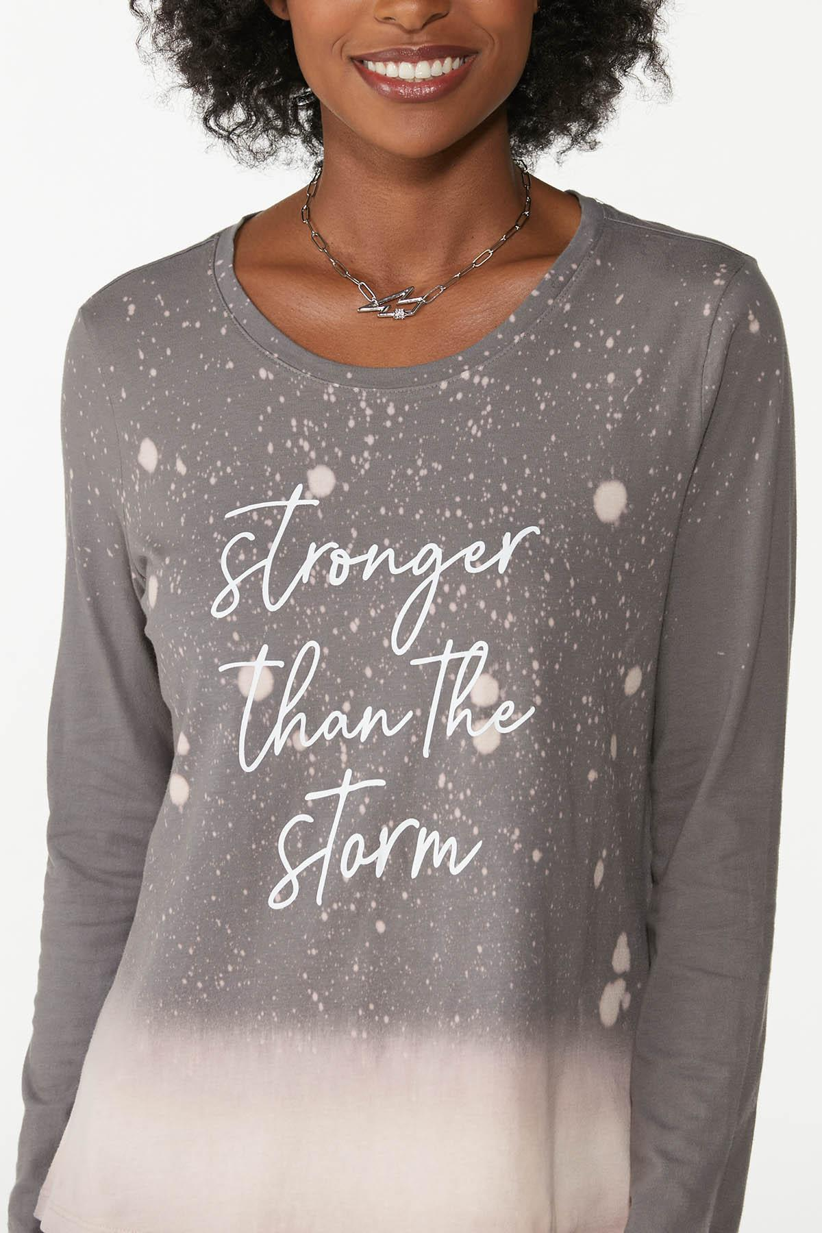 Plus Size Stronger Than Storm Tee (Item #44782519)