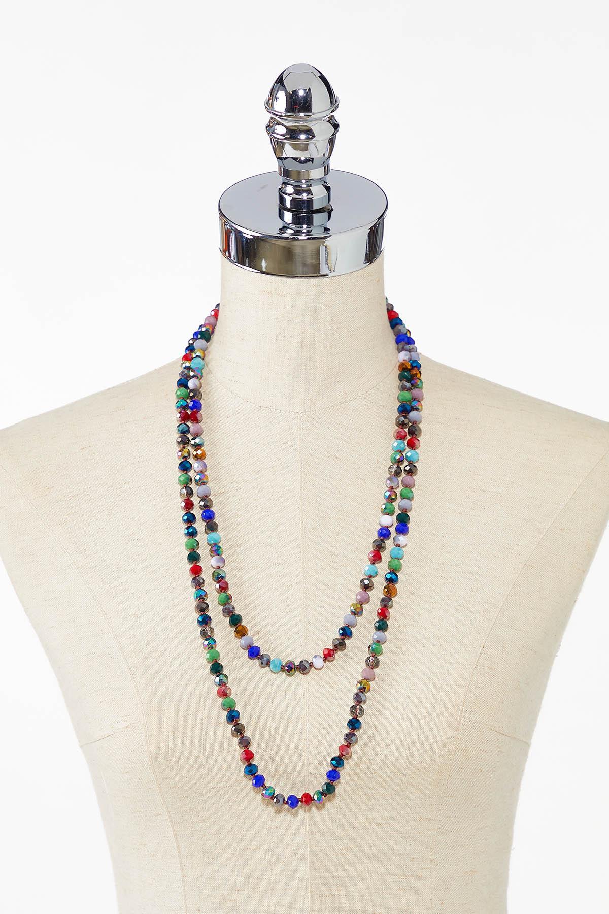 Rondelle Bead Long Necklace (Item #44783098)
