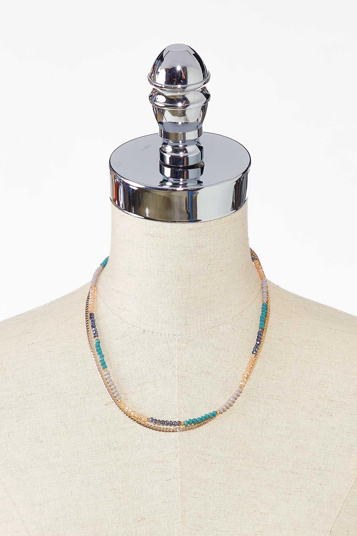 Colorblock Bead Layered Necklace (Item #44783120)