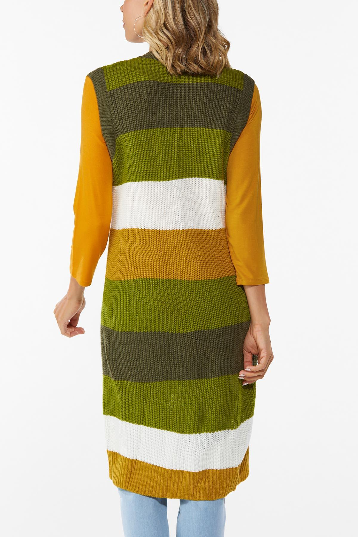 Stripe Down To Earth Sweater Vest (Item #44783590)