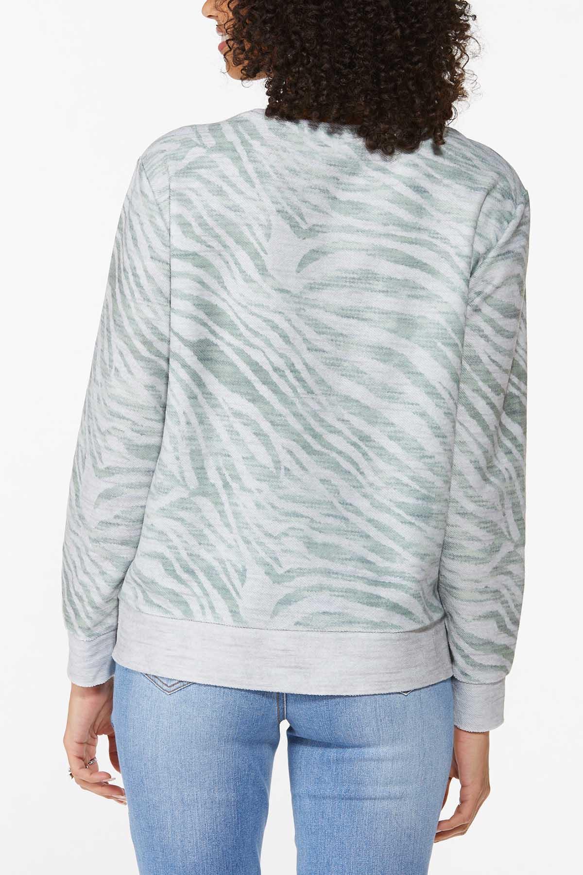 Animal Print Sweatshirt (Item #44787888)