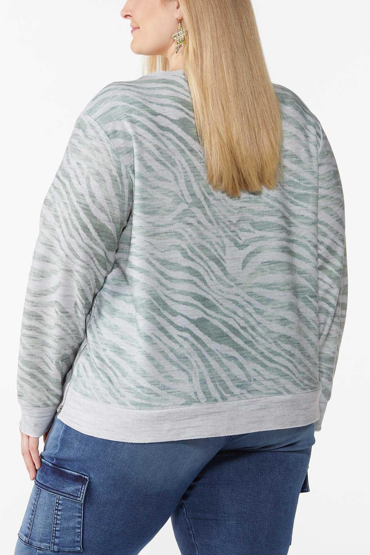 Plus Size Animal Print Sweatshirt (Item #44787901)