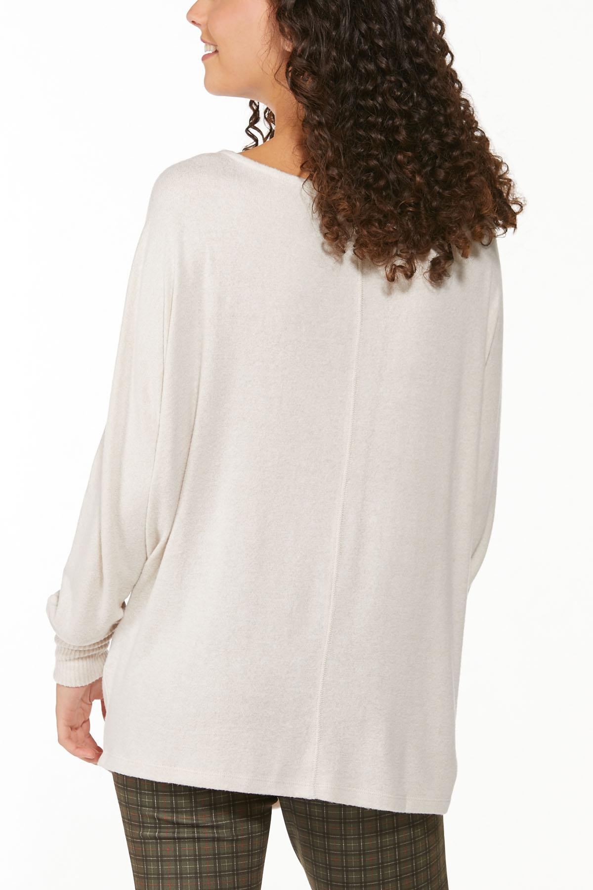 Plus Size Warm Oatmeal Sweater (Item #44790406)