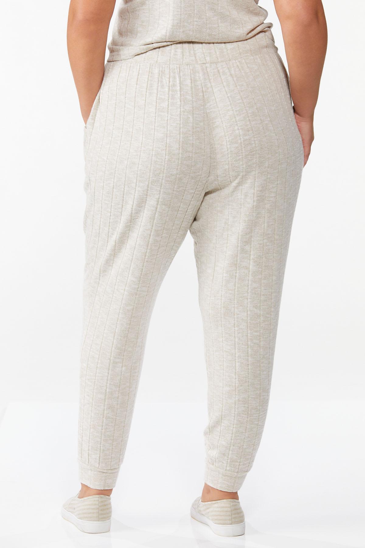 Plus Size Cozy Ribbed Pants (Item #44796311)
