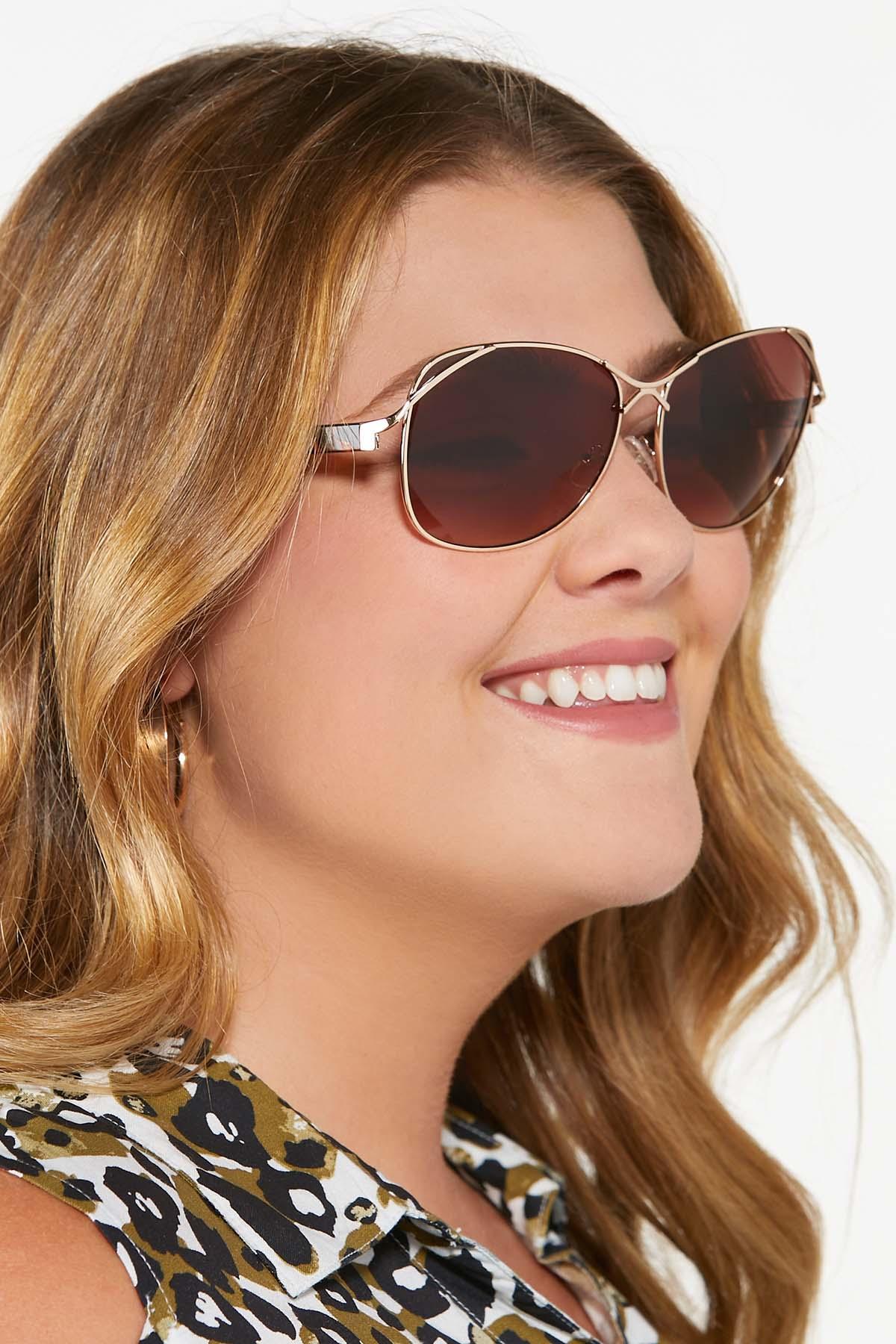 Metal Bar Aviator Sunglasses (Item #44810277)