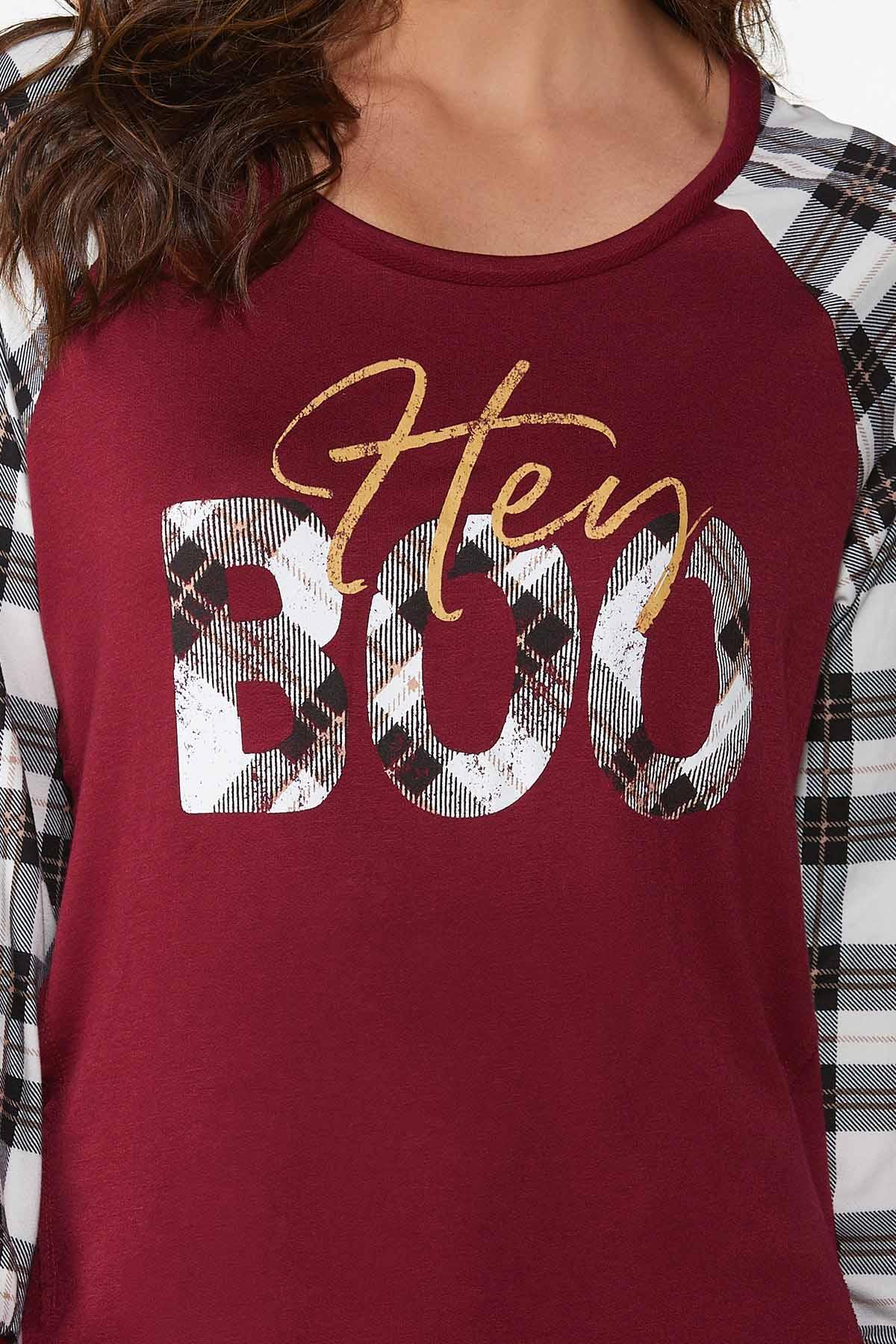 Plaid Hey Boo Top (Item #44817571)