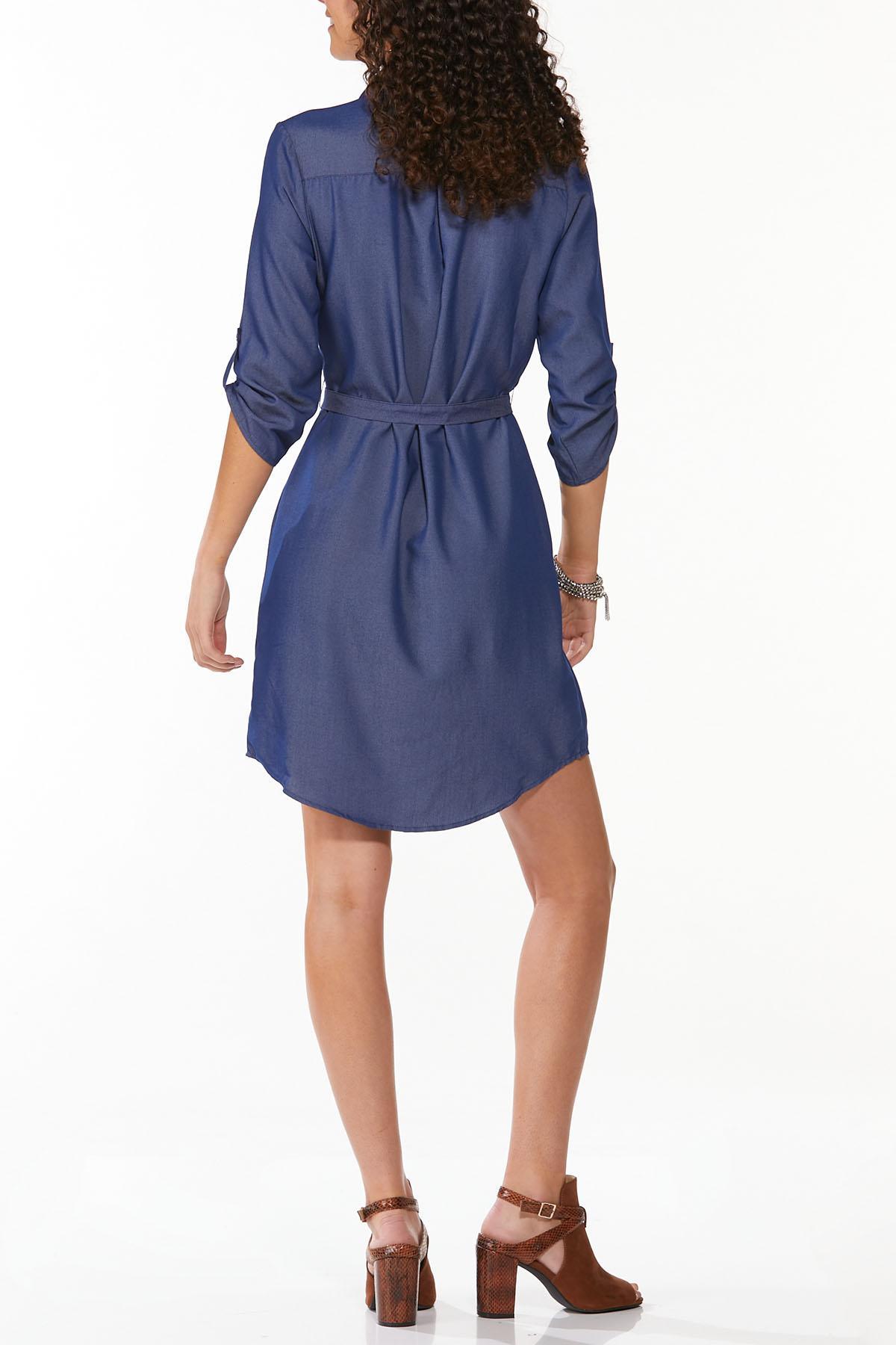 Chambray Shirt Dress (Item #44822649)