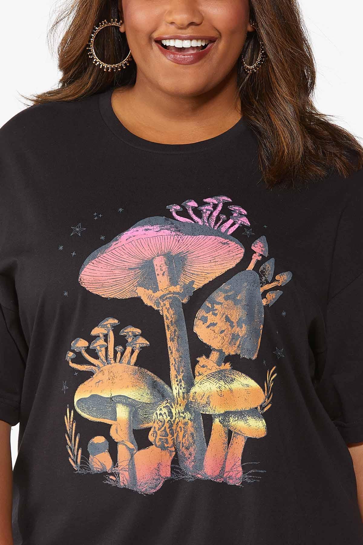 Plus Size Multi Mushroom Tee (Item #44831401)