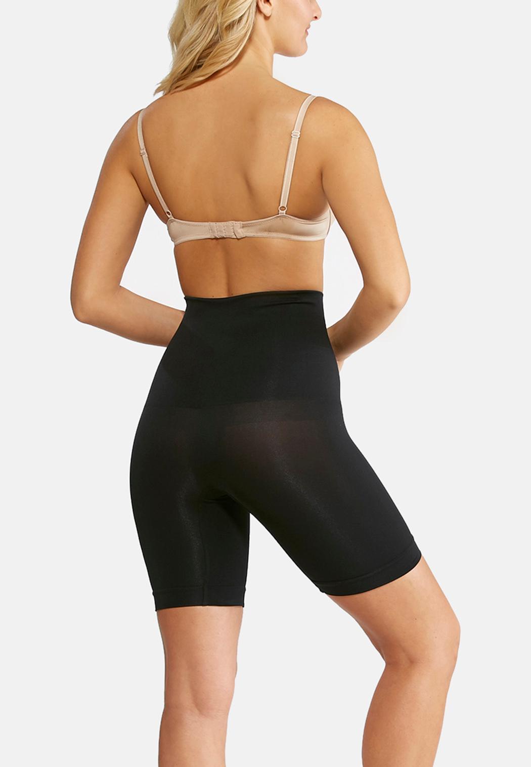 Black Seamless High Waist Shorts (Item #91895577)