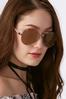Rose Tinted Aviator Sunglasses alternate view