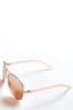 Rose Tinted Aviator Sunglasses alt view