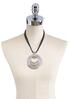 Layered Hammered Circle Cord Necklace alternate view