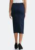 Plus Size Pull- On Denim Pencil Skirt alternate view