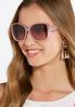 Ombre Frame Square Sunglasses alternate view