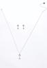 Cubic Zirconia Rose Gold Necklace Set alternate view