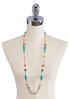 Long Single Row Beaded Necklace alternate view
