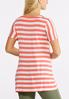 Striped Seamed V- Neck Top alternate view