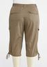 Plus Size Cropped Tie Hem Cargo Pants alternate view