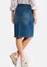 Plus Size Soft Stretch Denim Skirt alternate view