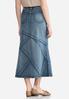 Plus Size Geo Seamed Denim Skirt alternate view