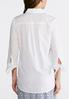 Tie Sleeve White Button Up Shirt alternate view