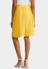 Plus Size Yellow Shadow Stripe Midi Skirt alternate view