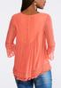 Plus Size Layered Mesh Lace Top alternate view
