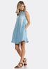Embroidered Back Chambray Shirt Dress alternate view