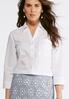 Plus Size Tie Sleeve White Button Up Shirt alternate view