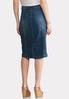Plus Size Front Seam Denim Midi Skirt alternate view