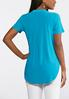 Plus Size Solid Stretch Popover Top alternate view
