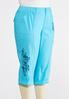 Plus Size Cropped Tonal Embroidered Cargo Pants alternate view